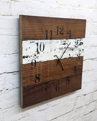18 Creative And Handmade Wall Clock Designs - Style Motivation Rustic Wall Clock Oversized Oval Roman Numeral 40cm Pallet Wood Diy Youtube Pottery Barn Shelves 16 Image Avery Street Design Co Farmhouse Clocks And Fniture Best 25 Large Wooden Clock Ideas On Pinterest Old Wood Projects Reclaimed Home Do Not Use Lighting City Reclaimed Barn Copper Pipe Round Barnwood Timbr Moss Clock16inch Diameter Products