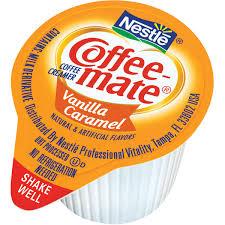 Coffee Mate Vanilla Caramel Creamer Singles 180 Ct Box
