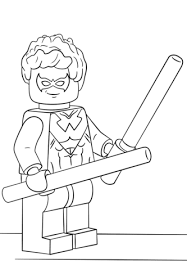 Lego Super Heroes Coloring Pages