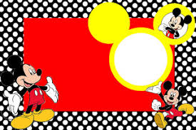 Mickey Mouse Pumpkin Stencils Free Printable by Inspired In Mickey Mouse Free Printable Party Invitations In Red