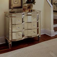 Hayworth Mirrored Chest Silver by Studio Pier Wall Bed With Top Storage Bridge Contempo Space