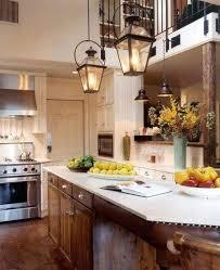 kitchen lighting rustic fixtures drum antique brass country