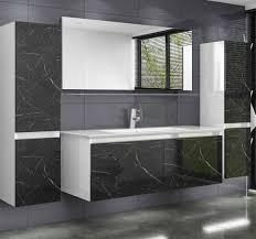 homeline badmöbel set luuci 120 120 cm badmöbel set schwarz weiss marmor optik hochglanz luuci badezimmermöbel bad 6 teilg 6 tlg kaufen