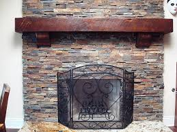 Rustic Fireplace Wood Mantels Shelves Nice Fireplaces Firepits