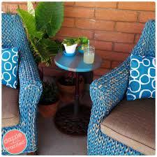 Patio Side Table from Old Umbrella Stand