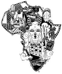 Free Coloring Page Adult Africa Difficult Map The African Continent