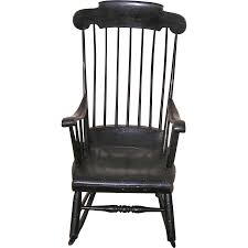 A Classic Boston Rocker With Black Paint C. 1840's | Empire ...