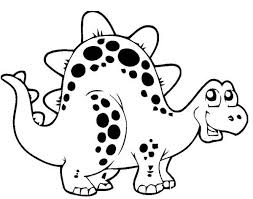 A Cute Thyreophora In Cartoon Dinosaur Coloring Page