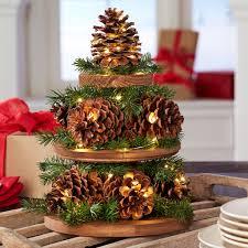 Pine Cone Christmas Tree Decorations by Pine Cone Christmas Tree Centerpiece