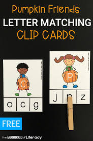 Pumpkin Friends Letter Matching Clip Cards The Letters of Literacy