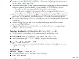 Resume Objective For Teachers Assistant Sample Special Education Teacher Resumes Objectives Experie