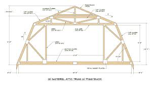 Gambrel Roof with Attic