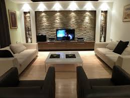 diy wall decor living room contemporary with recessed lighting