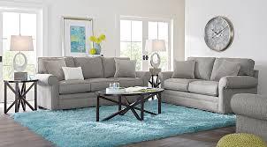 Cindy Crawford Home Bellingham Gray 5 Pc Living Room Living Room Sets Gray