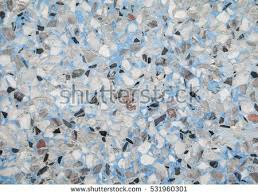 Stone Wall Texture Terrazzo Marble Surface Floor Pattern And Blue Color For Background 531960301