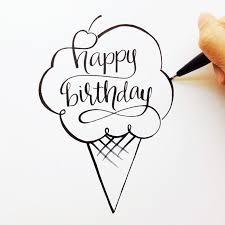 Best 25 Happy birthday hand lettering ideas on Pinterest