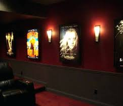 led lighting home theater beautiful wood leather theatre sconce