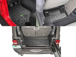 Lund Rubber Floor Mats by Quadratec Ultimate All Weather Floor Liner Triple Combo With