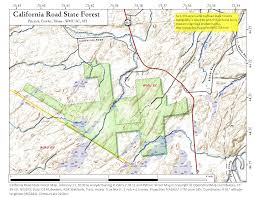 Map California Road State Forest Andy Arthurorg