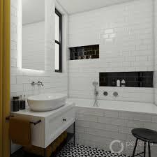 retro badezimmer schwarzweiss perfecto design