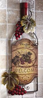 Wine Bottle Art Vineyard Kitchen Wall Decor This Would Look Great With My Other
