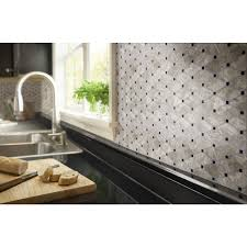 Glazzio Tiles Versailles Series by Shop Anatolia Tile Silver Creek Diamond Mosaic Wall Tile Common
