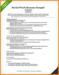 Social Worker Resume Sample Work Example