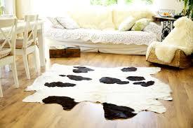 ikea echtes kuhfell 190x180 teppich landhaus weiß schwarz quadratisch