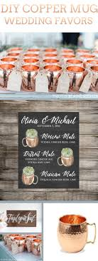DIY Copper Mug Wedding Favors