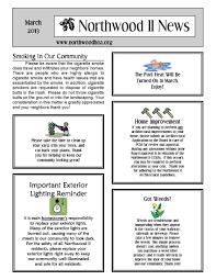 100 Condo Newsletter Ideas March 2013 Northwood II NWII HOA Community Association