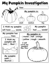 Printable Pumpkin Books For Preschoolers by Pumpkin Investigation Worksheet Free Printable Investigations