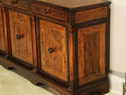 Rustic Walnut Sideboard Side Cabinet Or Credenza With Marquestry