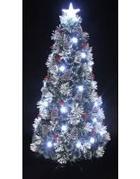 The Snowy LED Frosted Pine Fibre Optic Tree