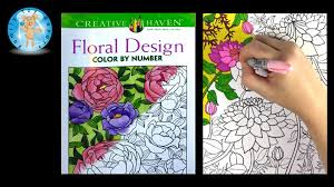 Creative Haven Floral Design Adult Coloring Book Review Color By Number