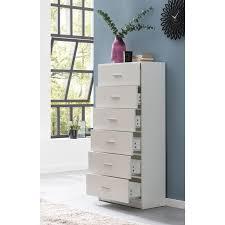 wohnling design sideboard wl5 863 weiß hochglanz 60x130x30 cm anrichte holz modern schmale schubladenkommode esszimmer kleiner allzweckschrank