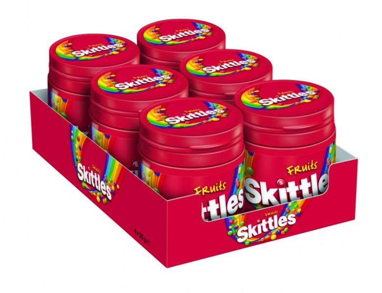 Skittles Fruits Dose, (Pack of 6)