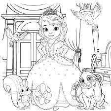 Awesome Coloring Sofia The First Disney Princess Pages With Page
