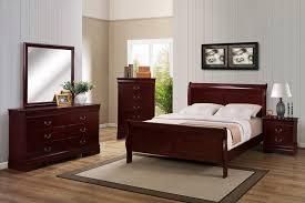 Crown Mark B3800K 1 2 11 Louis Philip Cherry King Bedroom Set w