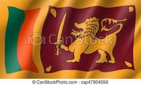 Sri Lanka Flag Vector Flat Style