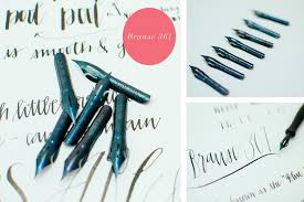 Blue Pumpkin Nib Amazon by Wabi Sabi Calligraphy Calligraphy Blog