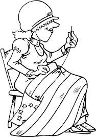 Flag Sewing Coloring Pages Of Day
