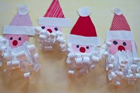 Easy Christmas Paper Crafts For Kids Preschool Simple Decorations