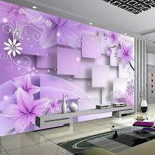 nach 3d foto tapete moderne abstrakte kunst wand malerei lila blumen wohnzimmer tv hintergrund home decor wand papier wandbild