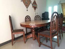 Sheesham Wood Dining Table With Six Chairs