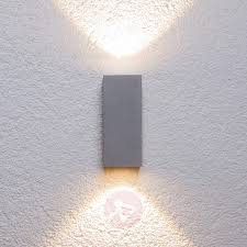 silver outdoor wall light tavi with bridgelux led lights co uk