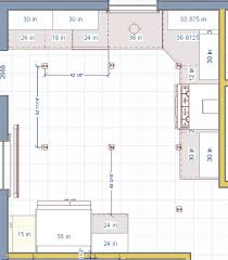 recessed lighting layout for kitchen