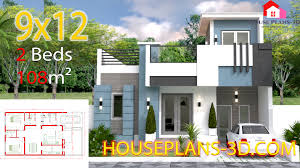 100 Housedesign House Design 9x12 With 2 Bedrooms Full Plans