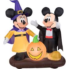 gemmy airblown inflatable 4 5 x 4 5 mickey mouse and minnie
