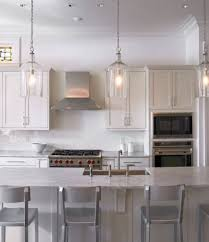 lovely glass pendant lights for kitchen with additional