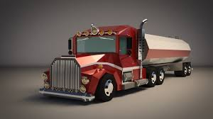 Low-Poly Cartoon Tank Truck - Extended License 3D Game Models : OBJ ...